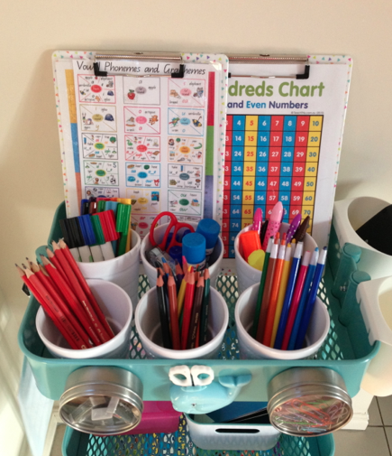 The Homework Station @ theorganisednest.com
